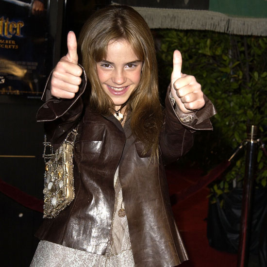 emma watson thumbs up