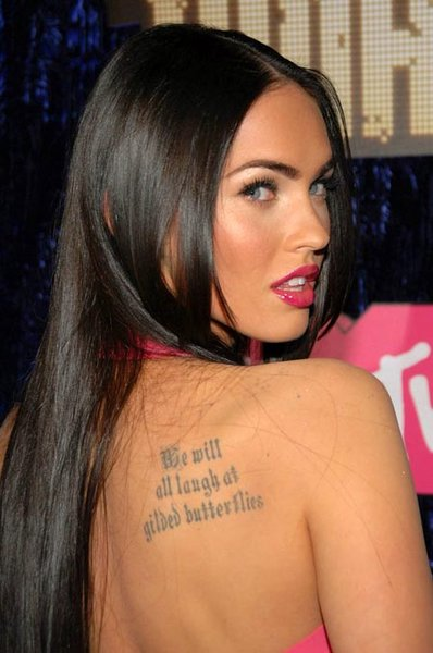 megan fox tattoos rib megan