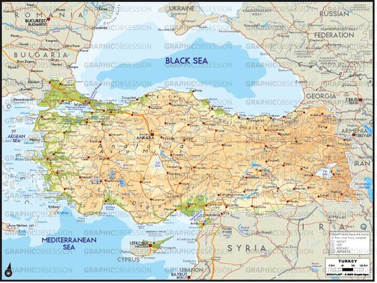 physical maps of ecuador. hot hot Physical Map of Turkey