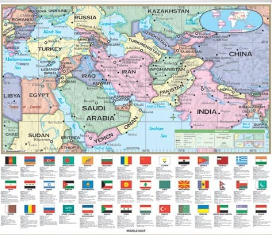 World Map With Countries And Cities. World. Free Download ...