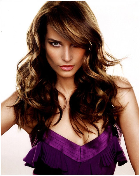 front bangs hairstyle. with angs. hairstyles for