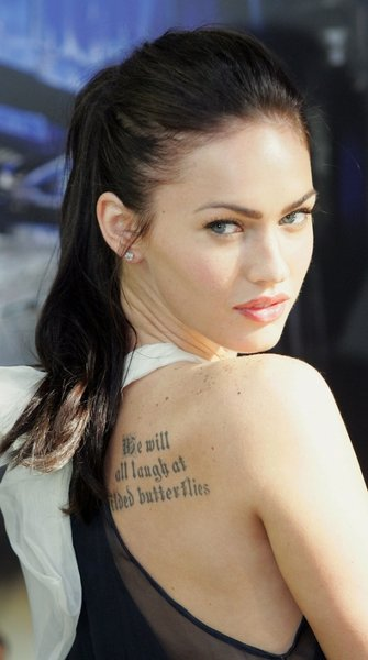 megan corkery tattoo. megan fox tattoos rib. pictures of megan fox tattoos