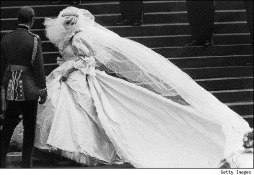 princess diana wedding dress train length. makeup diana wedding gown