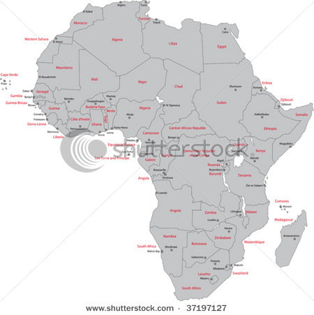 map of africa with countries and capitals. map of africa with capitals.