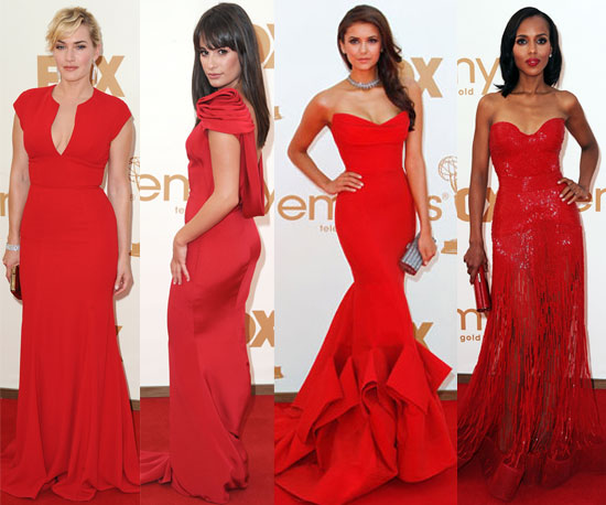 Celebrities In Red Dresses At The Emmys POPSUGAR Fashion